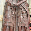 The rightmost of the two tetrarch couples. Executed in porphyry granite, and currently installed on St Mark's Basilica, Venice