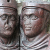 Two of the four Tetrarchs, emperors of the roman empire holding each other closely, and trusting each other to wield power