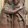 two of the four tetrarchs, 1700 year old sculpture in porphyry granite representing the 4 emperors of rome, in Venice