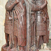 the four tetrarchs representing the 4 emperors of the roman empire appointed by Dicocletian. Depicted in porphyry granite in Venice, Italy