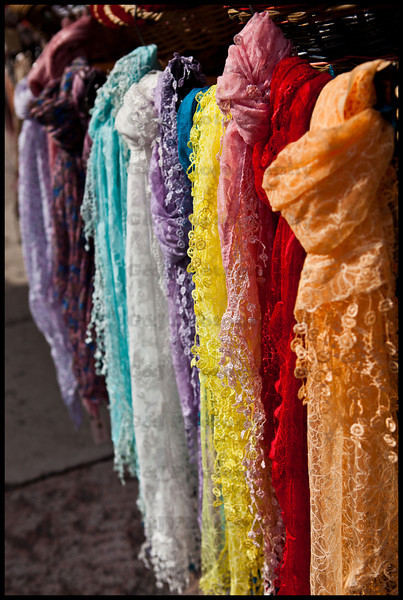 The many colors of scarfs