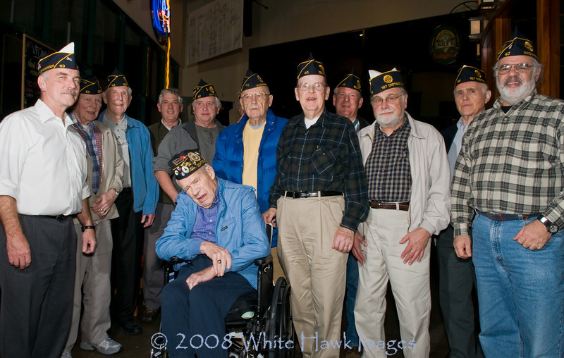 Veterans Day - November 11 2008.  Local Heroes, Ballard WA