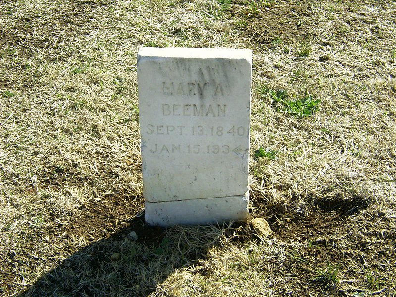 Mary A. Beeman old stone.