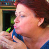 Vicki Kissing a Frog at Cascada Blanca, Matagalpa, Nicaragua :