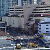 Victoria Towers August 2013. Light rail construction.