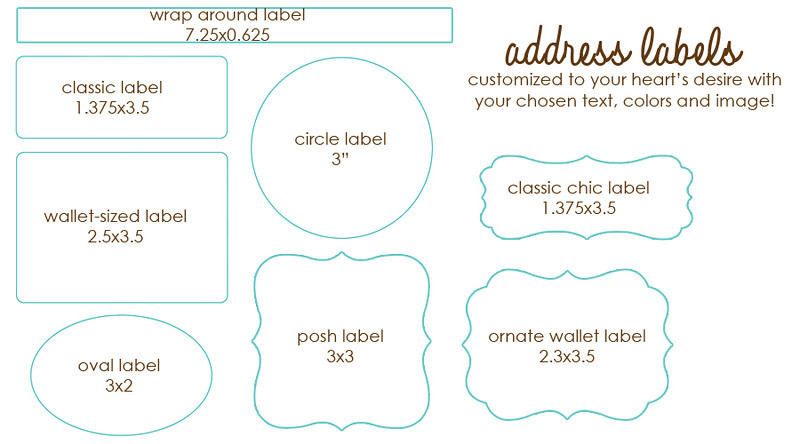 Customized address labels are the perfect finishing touch to your artistically designed card.  Address labels can be fully customized including text, colors and can include an image of your choice if desired!