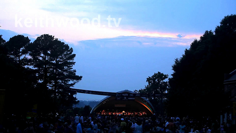The amazing St. Mary's College River Concert Series is used as a backdrop by photograher Keith W. Wood to test the Hi-Def video capabilities of the new firmware update of the Canon 5D Mk-II DSLR.