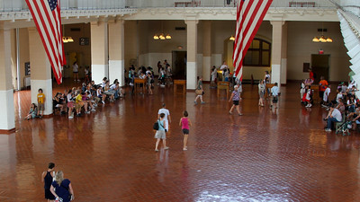 The Great Hall at Ellis Island.  Time-lapse photography. Recorded on August 17, 2010. Technical details: 294 still images at 3 sec interval.  Canon 7D camera. Post processing in Adobe Lightroom 3, Video editing in Adobe After Effects.