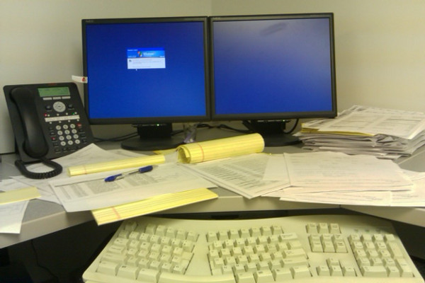 Bob's work desk