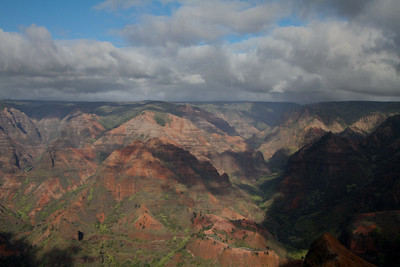 Waimea Canyon Time-lapse movie shot on February 9, 2010 in Kauai, Hawaii from the Waimea Canyon Lookout.  < Details > Lens: Canon 24-105mm f/4L IS USM; Tripod: Manfrotto 055XPROB with Joystick Head (322RC2);  Interval 5 sec.; 661 frames recorded and presented at 10fps; Image post processing with Adobe Lightroom 2.
