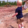"Watching construction vehicles, playing with rocks, and signing ""truck""<br /> Patrick - 17 months old"