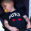 Patrick appreciates listening to bluegrass... even in his sleep!<br /> Merlefest in Wilkesboro, NC<br /> Patrick - 17 months