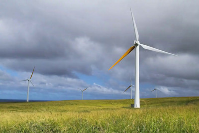 Upolu Wind Farm Turbines - Big Island. BEFORE PHOTO CLEANUP - Quicktime Pro 7 image sequence @ 24 frames per second.
