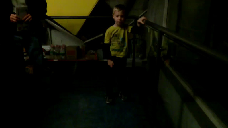 Nolan on the Earthquake simulator at the Science Museum