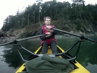 Clipped version of Martin rowing to Eastsound using a GoPro extreme waterproof camera.