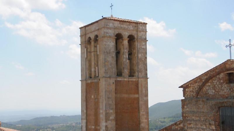 Bells chiming at the Montepulciano church