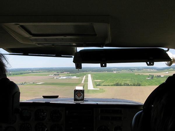 Landing at Piqua