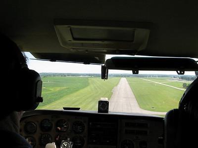 Landing at Grimes Field, Urbana, Ohio