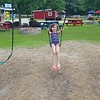Finally swinging by herself