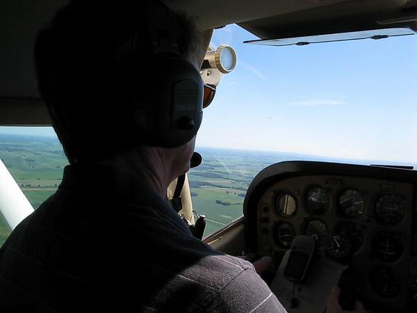 Flying between Piqua and Urbana