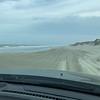 Driving the Beach Road near Carova