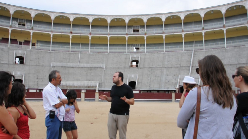 Our tour of the famous bullfighting ring