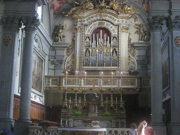 Organ playing in the Church of Saint Mark