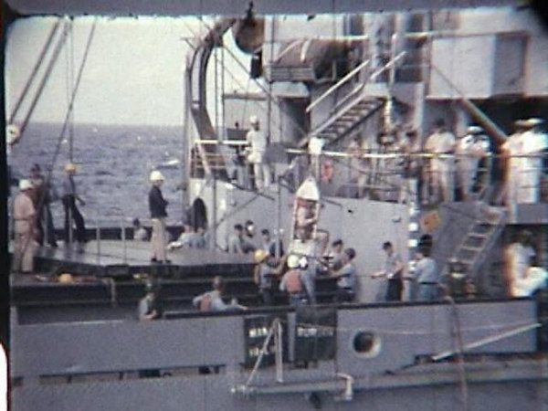 "<div align=""center""> <p><h2>At sea transfer of personnel from the Antares (AKS33) to the Altair, filmed by Mac Respess while aboard the Antares 1960 - 1963</h2></p> <p></p> <p>Enjoy!</p></div>"