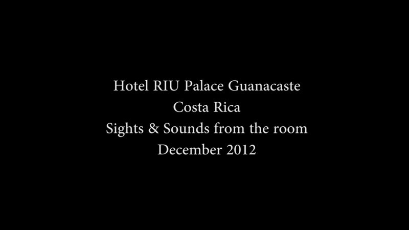 Hotel RIU Palace Guanacaste, sights & sounds from the balcony of a garden view room.