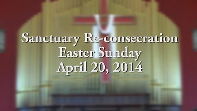 Sanctuary Re-consecration service