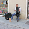 Man playing accordion in Parma