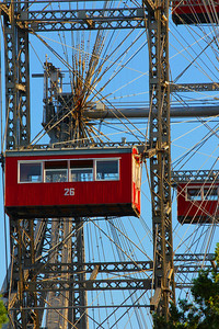 Riesenrad at the Prater.  The Attache celebrated her 40th birthday with a meal on one of the cars.