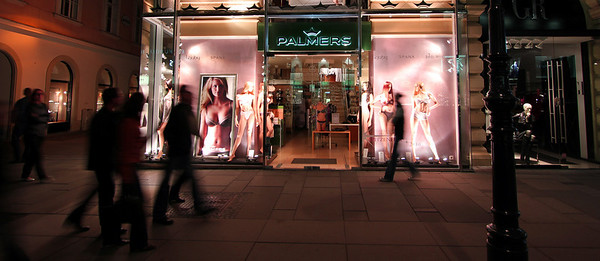 Palmers lingerie store, on Vienna's hippest shopping street, The Graben.
