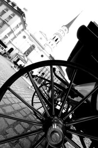 Wheel of a Fiaker (horse carriage).