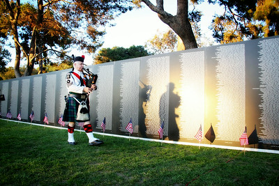 Vietnam Memorial Wall - Opening Ceremony