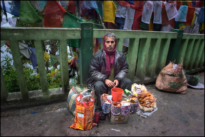 Tea Seller, Gangtok, Sikkim, India.