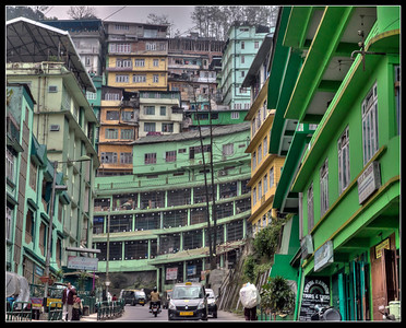 Downtown Gangtok, Sikkim, India.