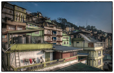 Laundry Day, Gangtok, Sikkim, India.