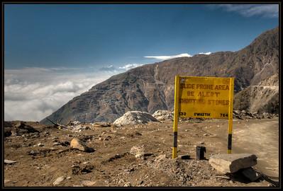 The Road to Changu (Tsomgo) Lake, Sikkim, India.