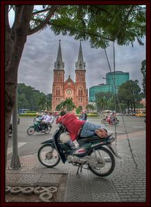 Notre Dame Cathedral, Saigon, Vietnam.