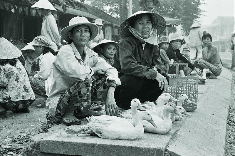 ladies with ducks