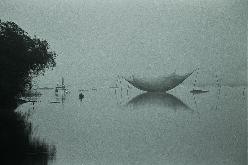 fishing net at dawn