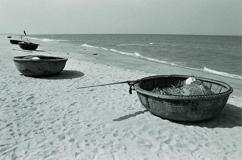coracles on beach