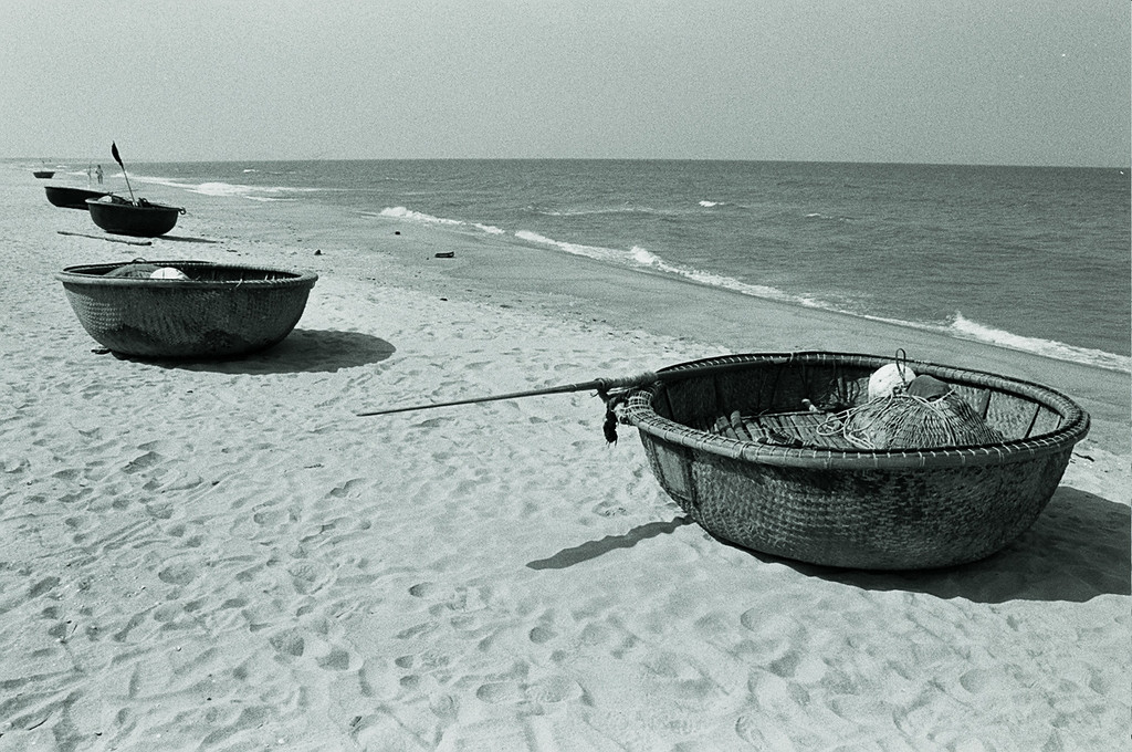 coracles on beach
