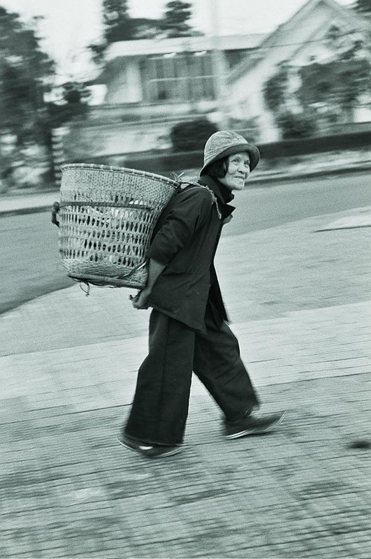 lady with basket