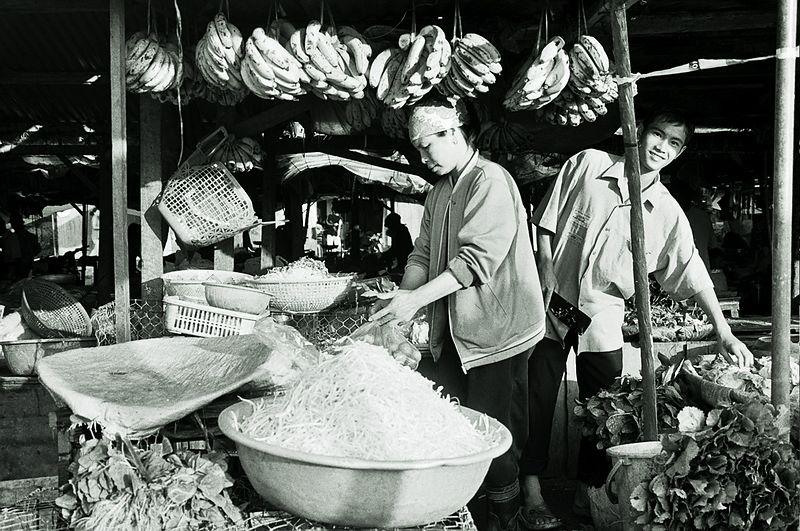 market stall (bananas)
