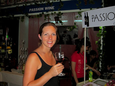 Emily finds a wine stall, it's been a long time!