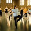 George De La Pena teaches ballet
