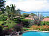 View from Villa del Sole deck toward the Pool and the Caribbean.