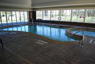 Heated indoor pool and hot tub.